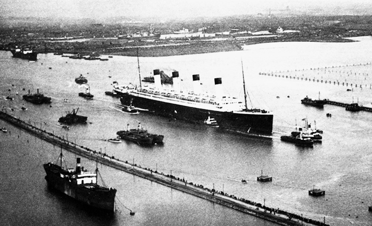Liner Olympic's Last Voyage 1935