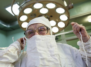 Russia's oldest working surgeon Alla Levushkina